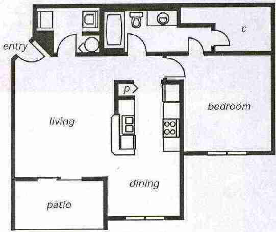 Delray Beach Apartment Rental #144 Floorplans